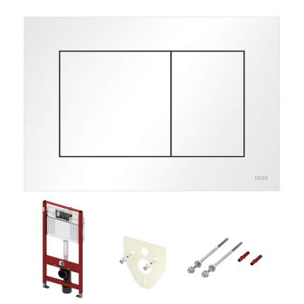 Комплект ТЕСЕ для подвесного унитаза 9400013: модуль, панель TECEnow белая