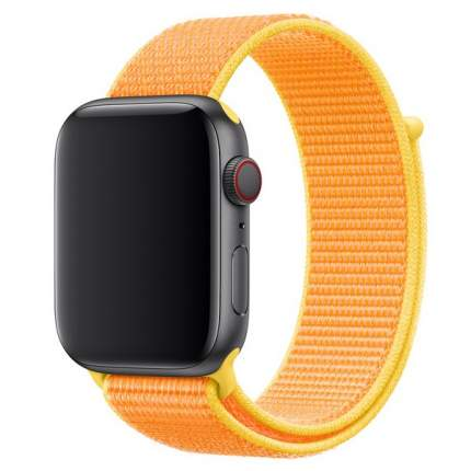 Ремешок Krutoff Nylon для Apple Watch 38/40mm (yellow)