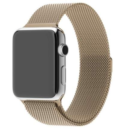 Ремешок Krutoff Milanese для Apple Watch 42/44mm (gold)