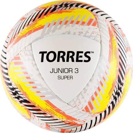 Мяч футбольный Torres Junior-3 Super, 3, белый, тренировочный, гибридная