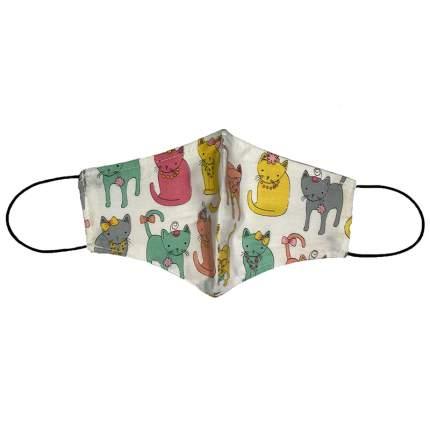 Маска Pride защитная (для людей) многоразовая двухслойная Модные Котики, размер L,XL
