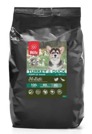 Сухой корм для щенков BLITZ Holistic Grainfree Puppy, индейка и утка, 12кг