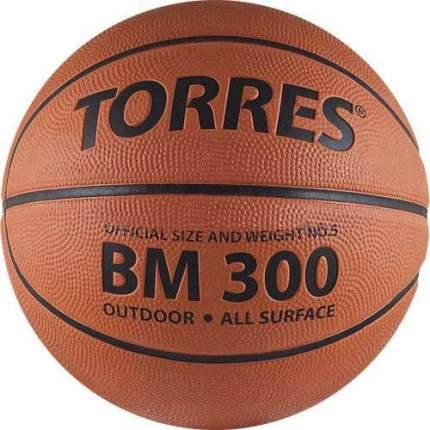 Мяч баскетбольный Torres BM300 , 5, коричневый, тренировочный, клееный