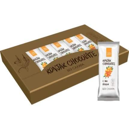 Шоколад без сахара KONJAK CHOCOLATE Облепиховый, кор. 10 шт.