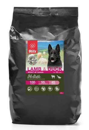 Сухой корм для собак BLITZ Holistic Grainfree Adult, баранина, утка, ягненок,  12кг