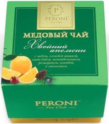 """Чай Peroni """"Медовый чай. Хвойный апельсин"""", чёрный листовой с добавками, 45 гр"""