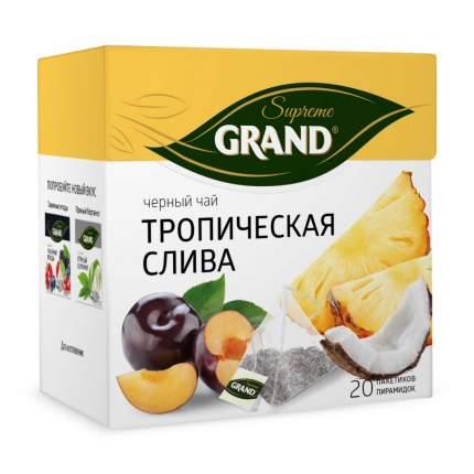 """Чай Grand """"Тропическая Слива"""", черный с добавками, 20 пирамидок"""