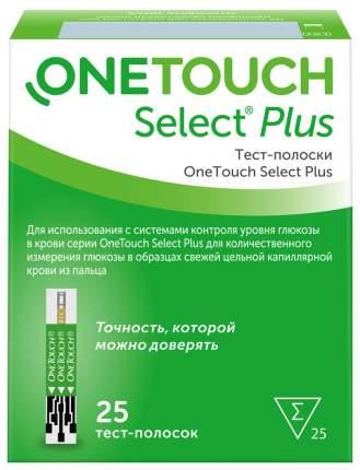 Тест-полоски OneTouch Select+ 25 шт.