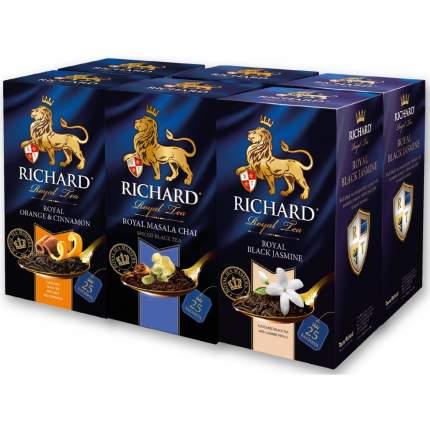 Набор чая Richard Orange & Cinnamon, Masala Chai, Black Jasmine 26*5 пакетиков