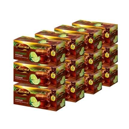 """Чай Лисма """"Крепкий Бергамот"""", чёрный с добавками, 25 пакетиков х 12 упаковок"""