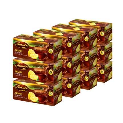 """Чай Лисма """"Крепкий Лимон"""", чёрный с добавками, 25 пакетиков х 12 упаковок"""