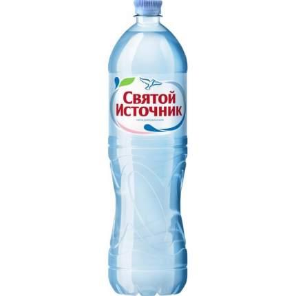 Вода питьевая Святой Источник негазированная пластик 1.5 л 6 штук в упаковке