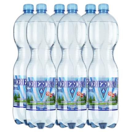 Вода Сенежская газированная пластик 1.5 л 6 штук в упаковке