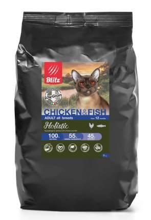 Сухой корм для кошек BLITZ ADULT CAT CHICKEN & FISH курица и рыба, 5 кг