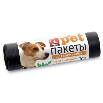 Пакеты GRIFON для выгула собак 25х40см, 15мкм, 20шт/рул