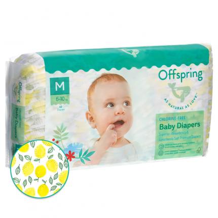 Подгузники Offspring M 6-10 кг. 42 шт. Лимоны