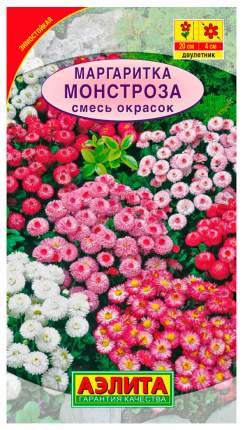 Семена цветов Аэлита Маргаритка Монстроза смесь двулетник