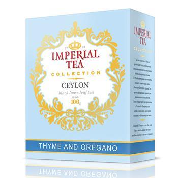 Чай Imperial Tea Collection Ceylon черный крупнолистовой с чабрецом и душицей 100 г
