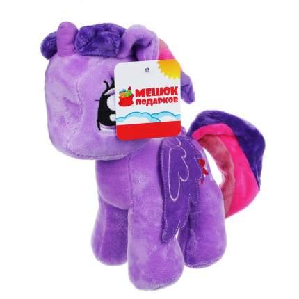 Мягкая игрушка Мешок подарков Разноцветная коняшка, 19 см, в ассортименте