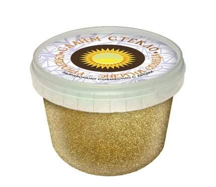 Слайм Новая Химия Стекло с золотыми блестками, 100 г