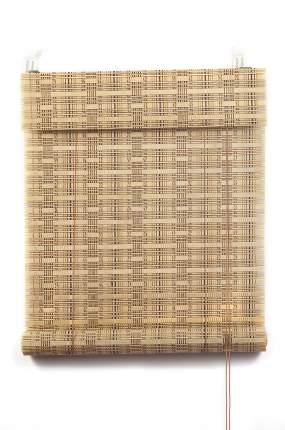 Рулонные шторы, ПраймДекор, Кантри, бамбук , 80Х160