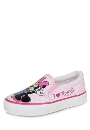 Слипоны для девочек Minnie Mouse, цв. розовый, р-р 27