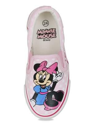 Слипоны детские Minnie Mouse, цв. розовый р.25