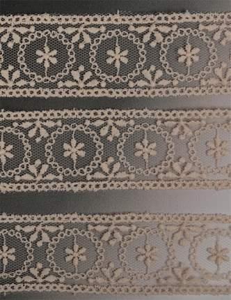 Кружево на сетке, цвет: 371 кремовый, 30 мм x 14 м, арт. TR 4010