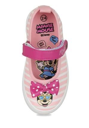 Кеды для девочек Minnie Mouse, цв. розовый, р-р 23