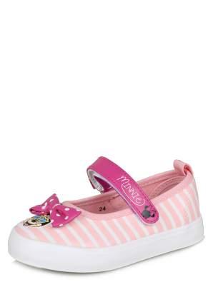 Кеды для девочек Minnie Mouse, цв. розовый, р-р 24