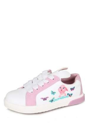 Полуботинки для девочек Enchantimals, цв. белый, розовый, р-р 26