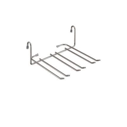 Полка на рейлинг для фужеров малая YJ-G507 хром глянец