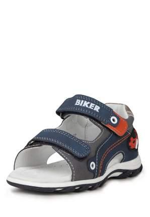 Сандалии для мальчиков Biker, цв. синий, серый, р-р 26