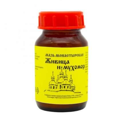 Мазь монастырская Бизорюк Фабрика здоровья Живица и Мухомор 100 мл
