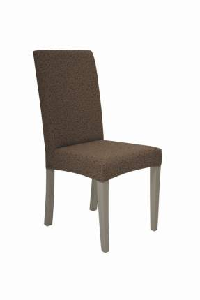 "Чехол на стул без оборки Venera ""Жаккард"", цвет коричневый, 1 предмет"