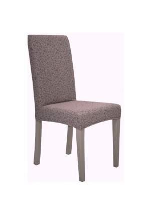"""Чехол на стул без оборки Venera """"Жаккард"""", цвет темно-сиреневый, 1 предмет"""