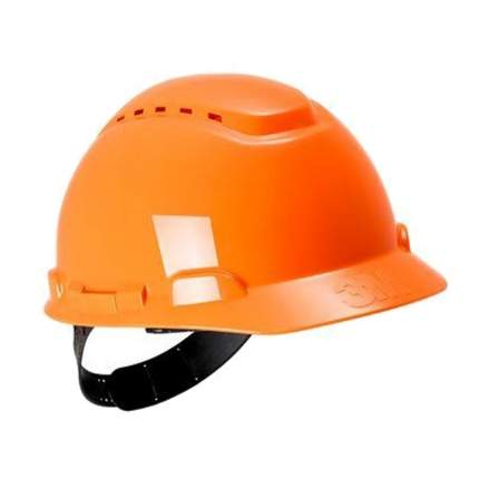 Каска защитная с вентиляцией, стандартное оголовье, оранжевая, ЗМ H-700C-OR