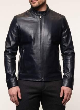 Куртка кожаная мужская КАЛЯЕВ 45572 синяя 58 RU
