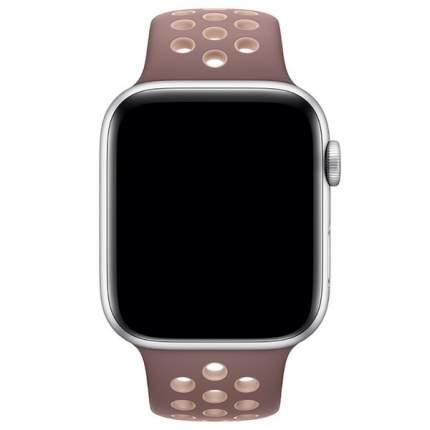 Ремешок Krutoff Silicone Sport для Apple Watch 38/40mm (purple/beige)