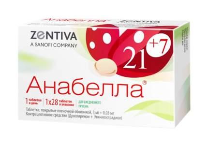 Анабелла таблетки, покрытые пленочной оболочкой 3 мг+0,03 мг №28