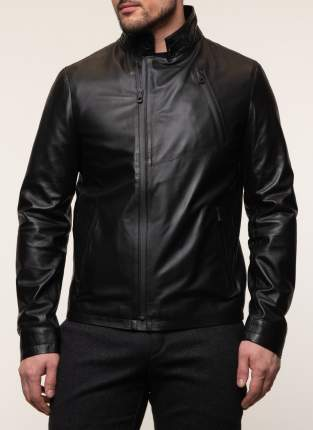 Куртка кожаная мужская КАЛЯЕВ 45573 черная 52 RU
