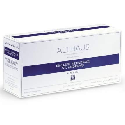 "Чай Althaus ""English Breakfast St. Andrews"", чёрный, 20 пакетиков Grand Pack"