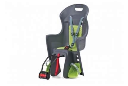 Детское велокресло заднее Polisport Boodie FF dark grey/green