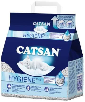 Впитывающий наполнитель для кошек Catsan Hygiene Plus кварцевый песок, 2.44 кг, 5 л