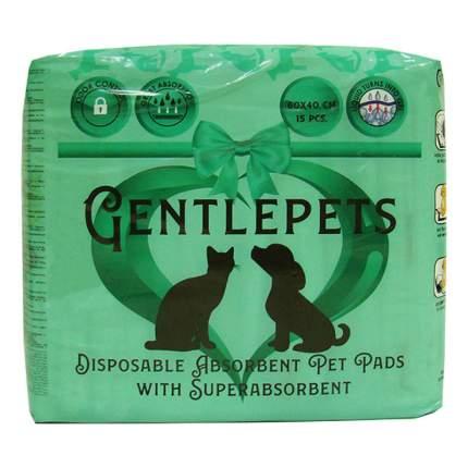 Подстилки для животных GENTLEPETS впитывающие, с суперабсорбентом, 60х40см 15шт