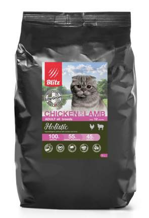 BLITZ ADULT CAT CHICKEN & LAMB  /низкозерновой корм для взр.кошек Курица&Ягненок / 5 кг