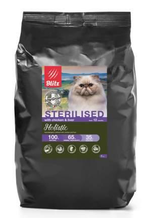Сухой корм для кошек BLITZ CHICKEN & LIVER FOR STERILISED курица и печень, 5 кг