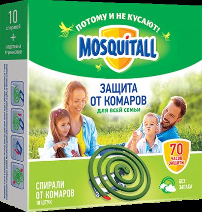 Спираль от комаров Mosquitall 27335 10 шт.