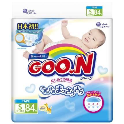 Подгузники Goon S (4-8 кг), 84 шт.
