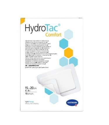 Самофиксирующиеся губчатые повязки HydroTac comfort 15 см x 20 см 10 шт.